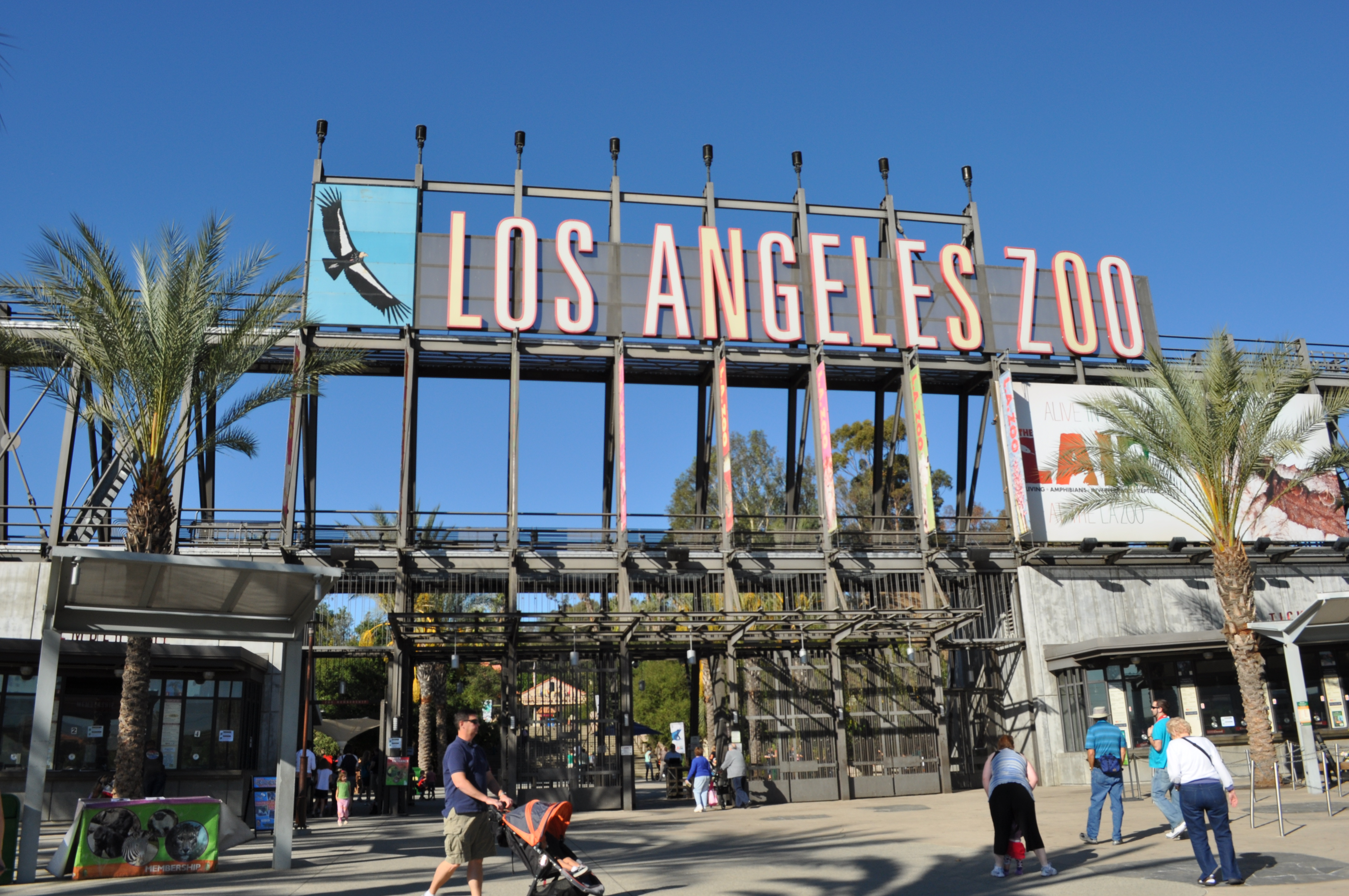Los Angeles Zoo Sign