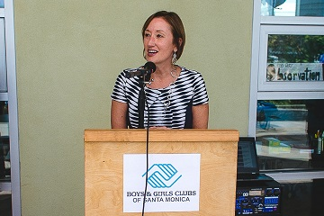 Speaking at the Boys & Girls Club